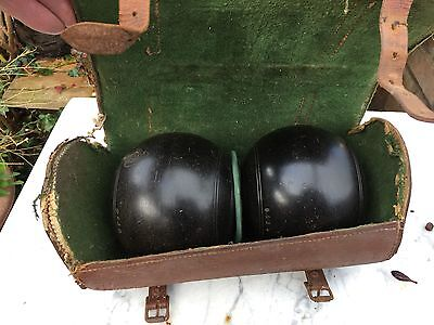 Pair of lawn bowls