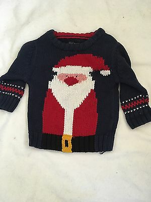 next christmas santa jumper 6-9 months