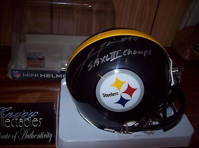 Nfl Pittsburgh Steelers Lawrence Timmons Signed Mini Helmet Coa
