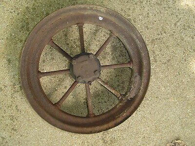 Vintage Cast Iron TRACTOR WAGON WHEEL 17 inch 22# antique 8 spoke rim farm