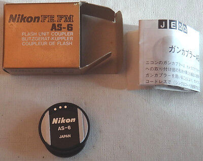 Nikon FE AS-6 Flash Unit Coupler Paperwork In Box