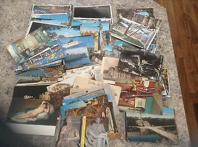 Mixed Lot Old Foreign Postcards (100)