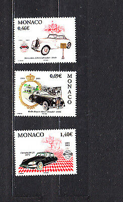 Monaco 2002 Motor Cars Complete Set Mint Never Hinged