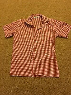 Red And White Gingham School Shirt 7-9 Years, 66cm