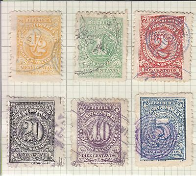 Colombia 1904 Set Of 6 Stamps Used