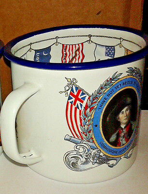 Pussar's Rum Metal Enamel Mug British West Indies