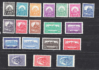 Hungary 1926 Definitives Complete Set Mint Hinged Cat £250+