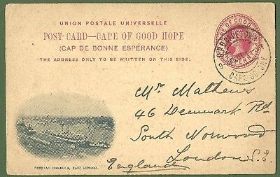 QV Cape of Good Hope 1d Postal History Card 2nd Boer War 9thJanuary 1901