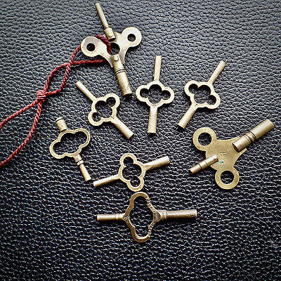 Watchmakers Clock Carriage Keys Vintage Antique Spares Brass Swiss & English