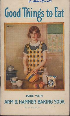 Arm & Hammer Baking Soda Good Things to Eat Recipe Booklet Cookbook 1925