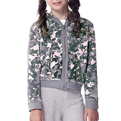 Dimensione Danza Camouflage Hooded Zip Sweat Jacket - Age 5 - RRP £57 Box6269 G