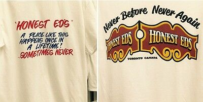 2 Honest Ed's Eds Authentic Store Shirts Men's Small Medium Or Large