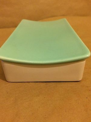 *****vintage Poole Pottery Pen Tray With Lid + Modern Poole Pottery Pin Dish****