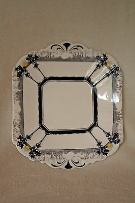 3 x *RARE* VINTAGE  SHELLEY QUEEN ANNE ART DECO CHINA PLATE