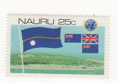 1980 NAURU 25c Nauruan, Australia, Union and New Zealand Flags SG#232 MUH #