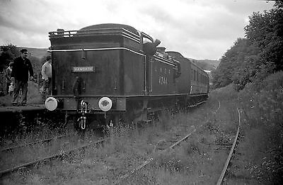 35mm RAILWAY NEGATIVE 2416 # 6 - LNER LOCO 4744 at OXENHOPE, KEIGHLEY - 1966