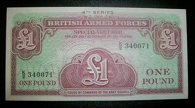 British Armed Forces One Pound 4Th Series Mint Unc