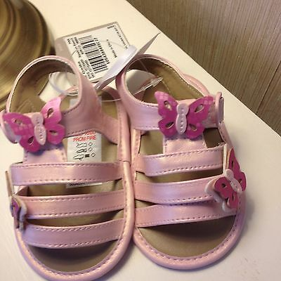 Adorable Baby Girls Pink Pre Walker Shoes Size 0-3 Months