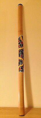 Didgeridoo Bamboo with Hand Painted Turtle and Dot Art