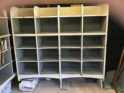 Large Oak Vintage School Library Bookcase Room Divider 6ft Shop Display • £450.00