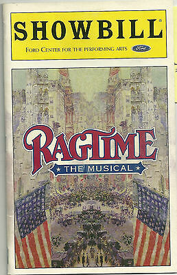 Ragtime The Musical Playbill - Ford Center Theatre - Feb. 1999 John Rubinstein