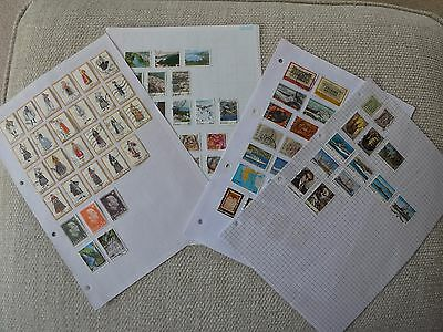Greece collection of 87 stamps on 4 pages
