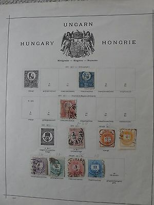 5 printed pages of early Hungary collection of  66 stamps