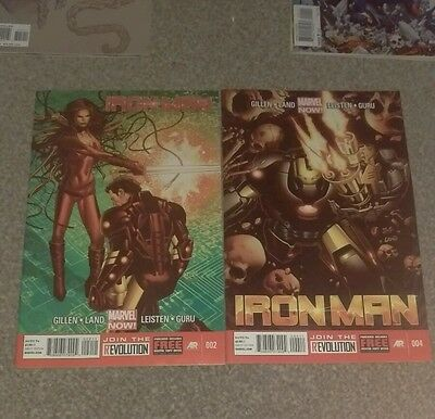 Marvel Now Iron Man 2 and 4 NM