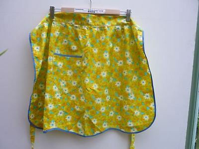 vintage green/yellow cotton apron