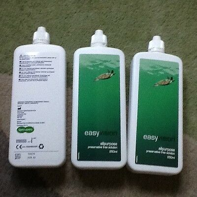 specsavers 250ml x 3 Easy Vision Preservative Free Contact Lens Solution