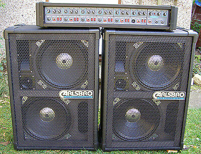 Carlsbro  pa amp and speakers great for outdoor parties and singalong
