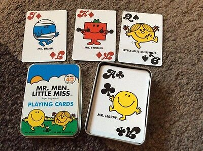 Mr Men & Little Miss playing cards