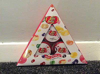 Jelly Belly beans body butter coconut vanilla choco puddin pyramid trio gift set