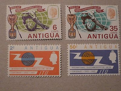 Antigua  - 2 sets MNH stamps WFC & ITU