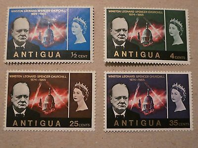 Antigua  - Churchill 1965 Mint set of 4 stamps