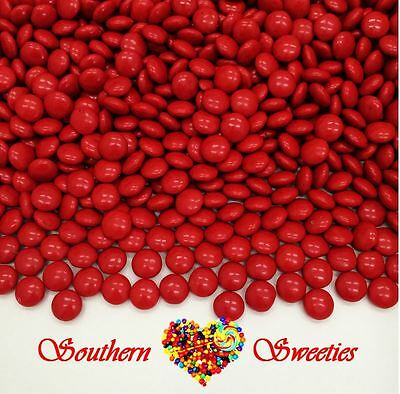 Red Mini Choc Buttons 500G Crunchy Mini Chocolate Drops Beanies Red Lollies