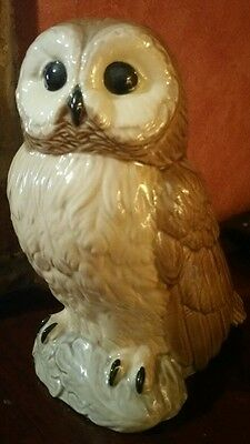 "Lovely Owl Figure ""the Charm Of Creamware"" By Heredities"