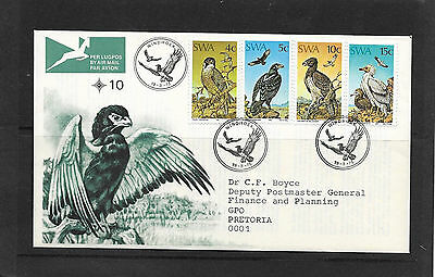 SouthWestAfrica.Protected Birds of Prey on Cover.First Day Cover with Insert.
