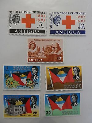 Antigua  - 3 sets of Mint stamps