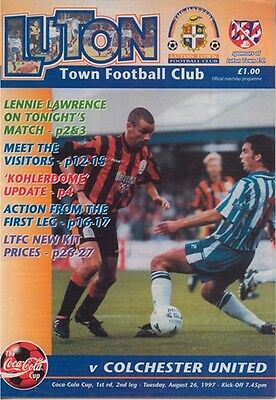 LUTON TOWN v COLCHESTER UNITED LEAGUE CUP 1997