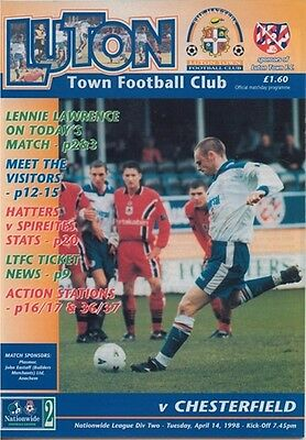 LUTON TOWN v CHESTERFIELD LEAGUE DIVISION TWO 1998