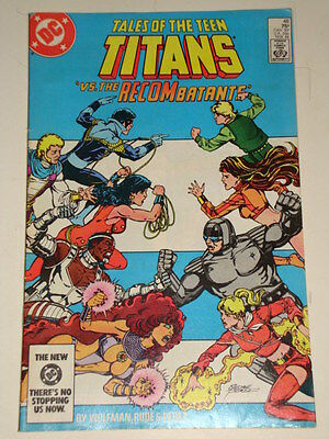 Dc Tales Of The Teen Titans Issue # 48 'recombatants' Av-Gd Con Wolfman