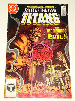 Dc Tales Of The Teen Titans Issue # 87 'brotherhood Of Evil' Av-Gd Con Wolfman