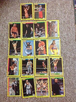wwe/wwf gold series merlin card collection