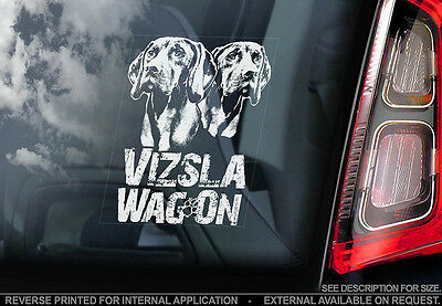 Vizsla - Car Window Sticker - Dog Sign -V03