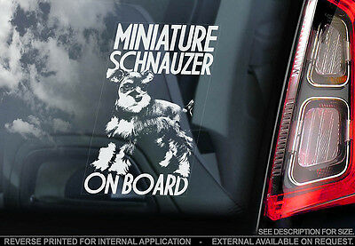 Miniature Schnauzer - Car Window Sticker - Dog Sign -V01