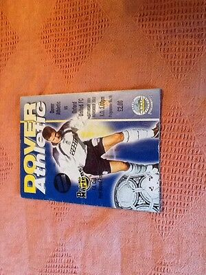 Dover Athletic V Oxford United Football Programme Fa Cup 2002/3