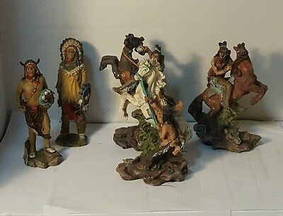 Lot of 5 Indian Statue Collectibles resin Mayrich
