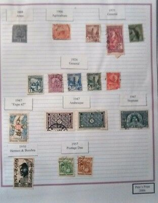 Tunisa stamps 1888 to 2003. 11 pages from an old collection.