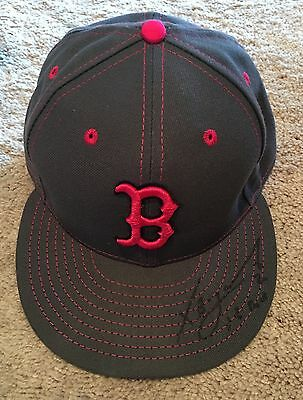 Xander Bogaerts GAME USED 2016 Mothers Day HAT signed WORN auto Red Sox MLB auth